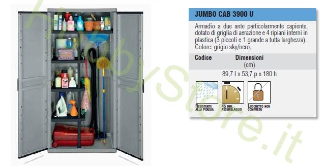 armadio in plastica jumbo cab 3900 armadio a tre ante
