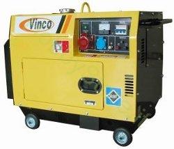 Generatore di corrente diesel vinco 5 0 kw mono trifase a for Generatore di corrente diesel usato