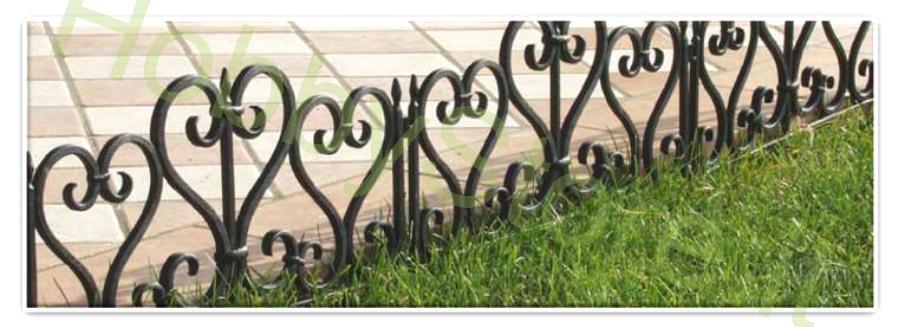 Recinzione curva per giardini a 12 00 iva inc for Recinzione aiuole
