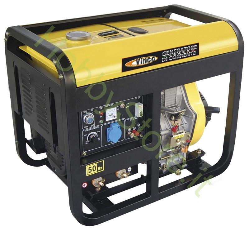 Generatore di corrente diesel vinco 5 0 kw a 999 00 iva inc for Generatore di corrente bricoman