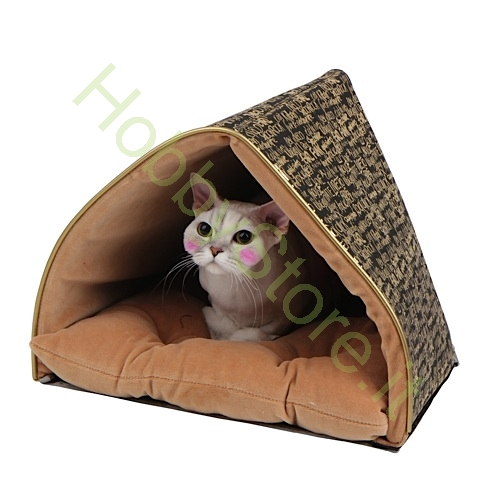 Cuccia per gatto prestige tenda nera e oro a 73 00 iva inc - Cuccia per gatti ikea ...