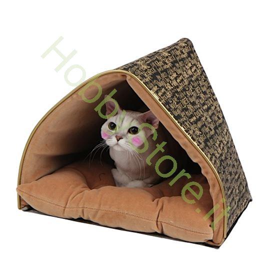 Picture of Cuccia per gatto Prestige Tenda nera e oro