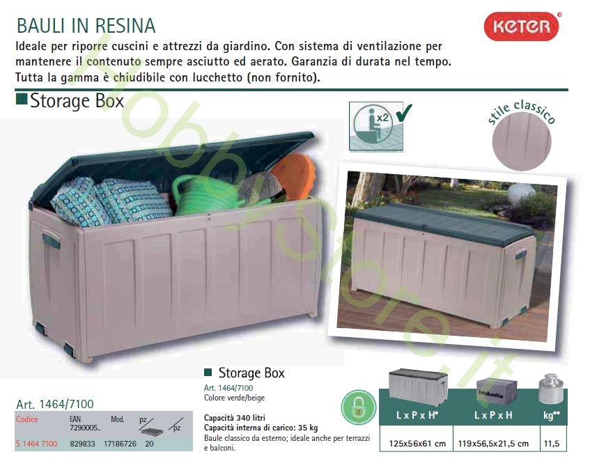 Cassapanca storage box keter a 95 00 iva inc - Box da giardino ...