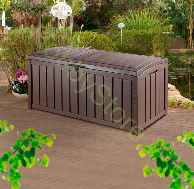 Cassapanca da giardino glenwood hobbystore cassapanca da for Cassapanca in resina da giardino