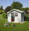 Immagine di Casetta da giardino Deco 5 Bianco Azzurro Grosfillex