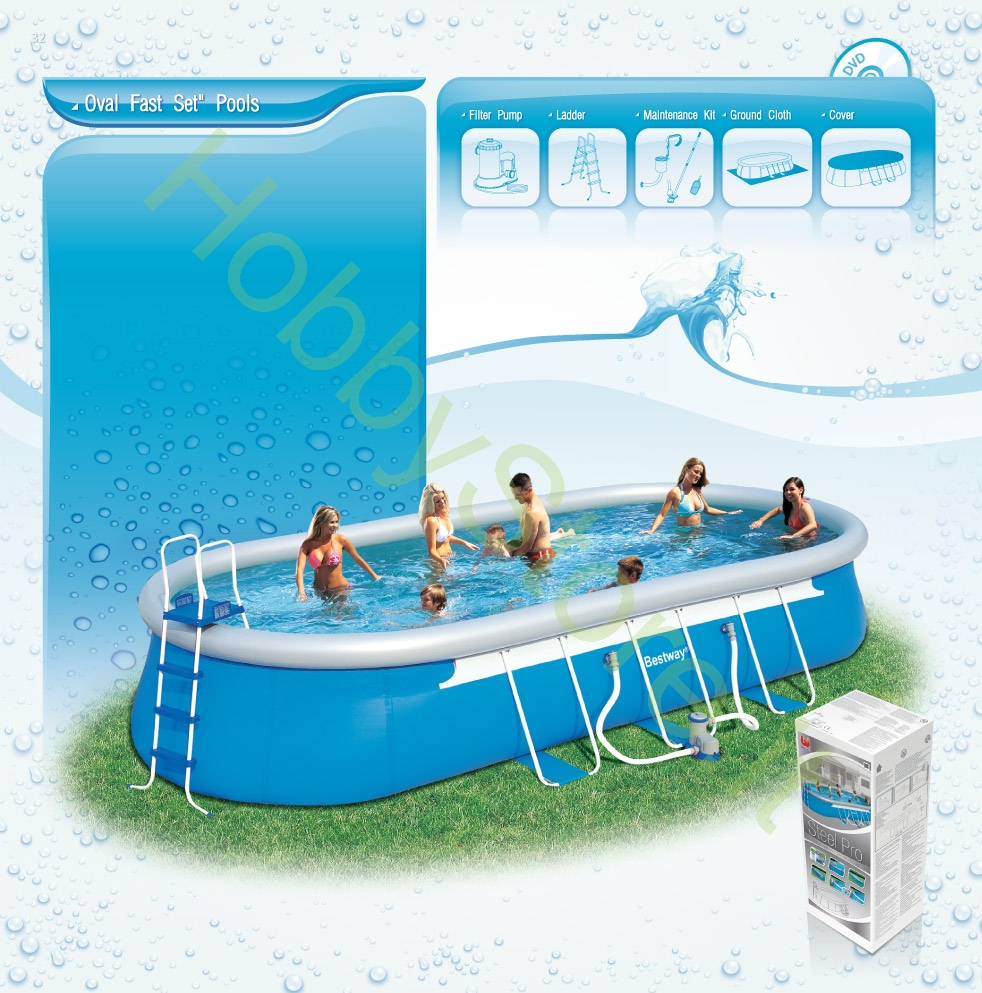 Piscina bestway fast set ovale 488x305x107h cm a 319 00 for Piscina bestway