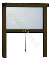 Immagine di Zanzariere Alluminio marrone Sottili  cm. 80x170