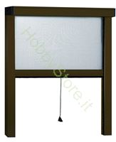 Immagine di Zanzariere Alluminio marrone Sottili  cm.120x250