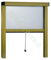 Immagine di Zanzariere Alluminio Bornzato Sottili  cm.160x170
