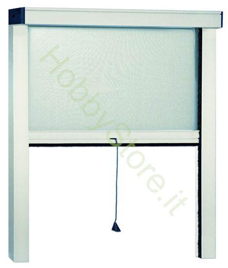 Picture of Zanzariere Alluminio bianche Sottili  cm.140x250