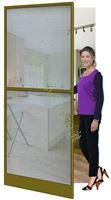 Immagine di Zanzariera bronzata ad Anta per Porta  cm.100x240