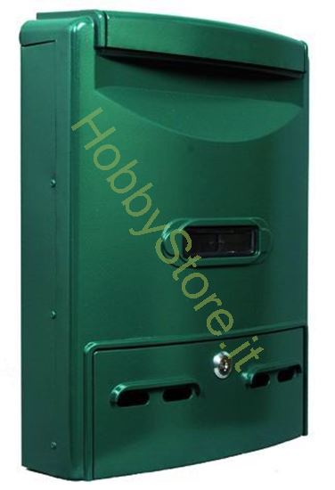 Picture of Cassetta postale verde  29x10x39h cm