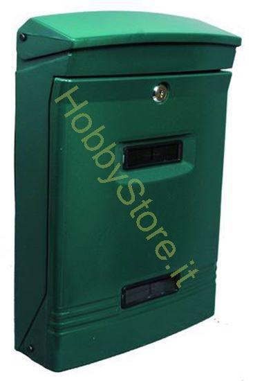 Picture of Cassetta postale verde dim.  25x12x37h cm