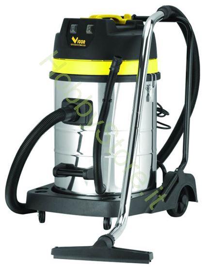 Picture of Bidone Vigor Pro Vba-80 litri/ 2m Inox watt 2000
