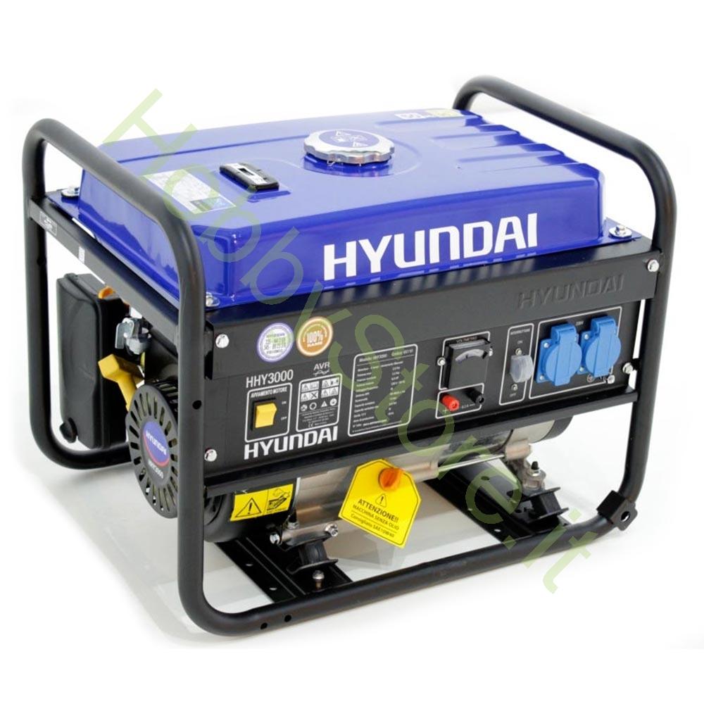 Generatore hyundai hy3000 2 8 kw a 339 00 iva inc for Generatore di corrente bricoman