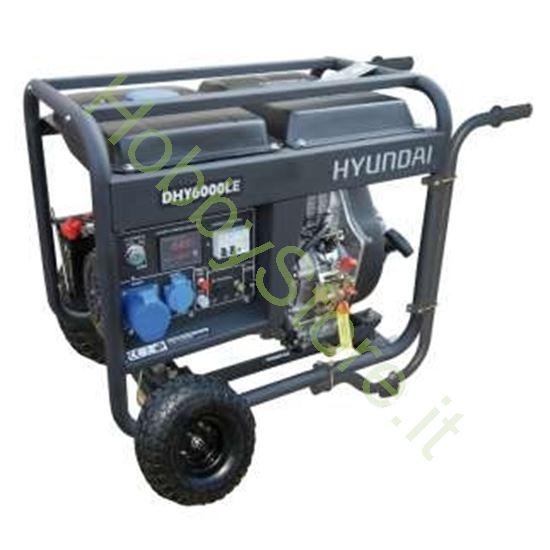 Picture of Generatore Hyundai carrellato dhy6000lekw-ATS 5,3 Kw