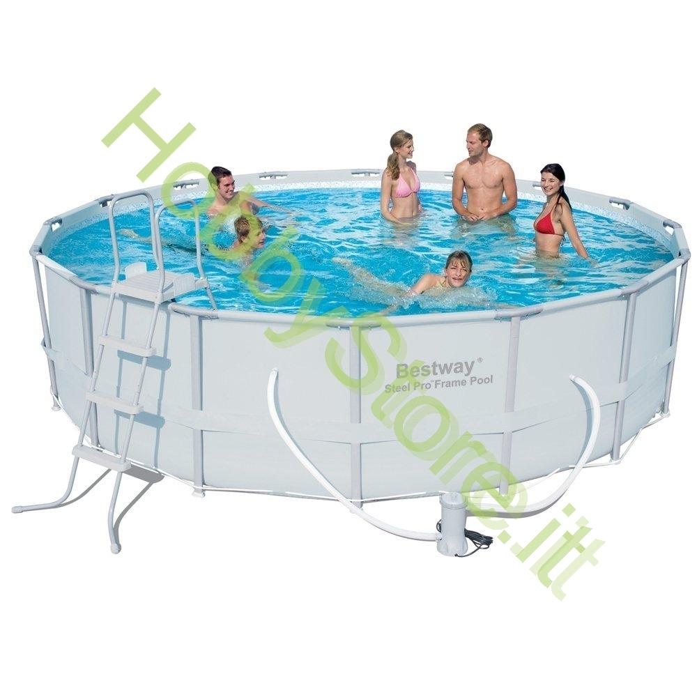 Piscina bestway steel frame 549x132h cm a 559 00 iva inc for Bestway italia piscine