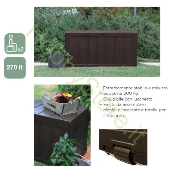 Cassapanca sherwood keter a 49 00 iva inc for Cassapanca in resina da giardino