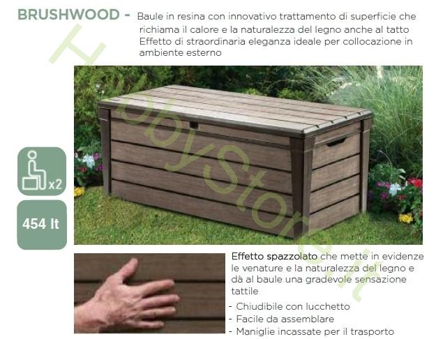 Cassapanca brushwood tortora keter a 199 00 iva inc for Baule da giardino resina