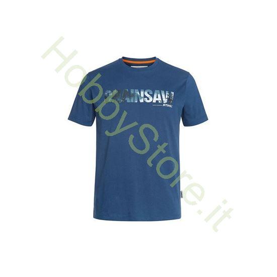 T-Shirt Stihl Motosega Blu