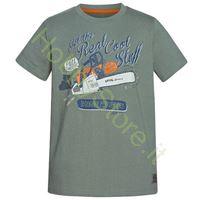 T-Shirt Bambino Stihl con motosega