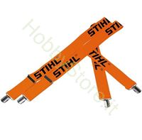 Bretelle arancioni con clip Stihl