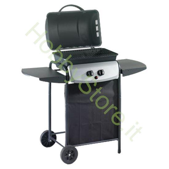 Grill gas con ruote griglia a pietra lavica 49 - 32 -85 art. 4935