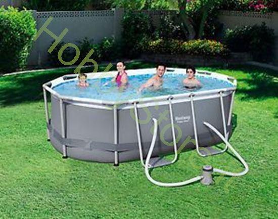 Piscina Power Steel 3.00m x 2.00m x 84 cm Oval Pool Set