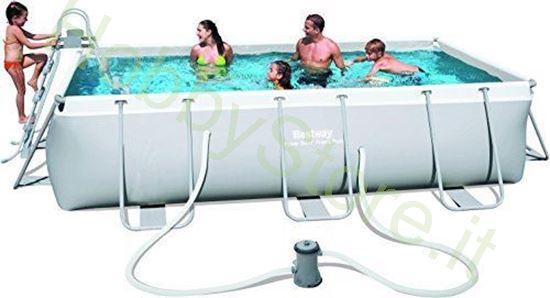 Piscina Power Steel 4.04m x 2.01m x 1.00m Rectangular Pool Set