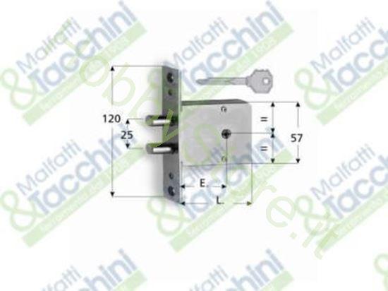 Picture of Serratura Infilare 1400K E.45 Cod. 240282