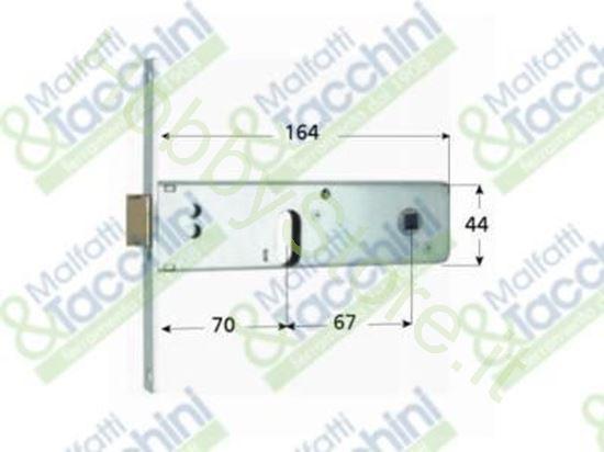 Picture of Serrature Profil.Fascia 44 E70 Cod. 123207