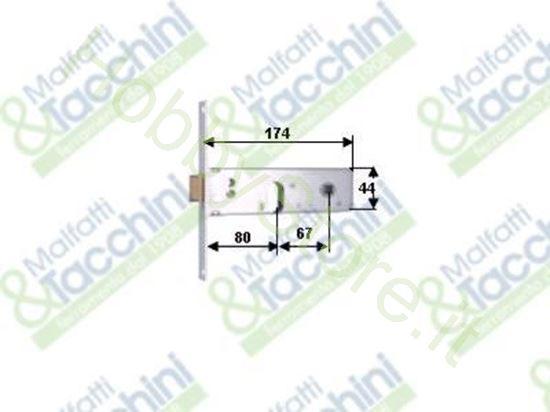 Picture of Serrature Profil.Fascia 44 E80 Cod. 123228