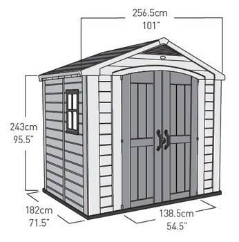 casetta da giardino factor dimensioni esterne