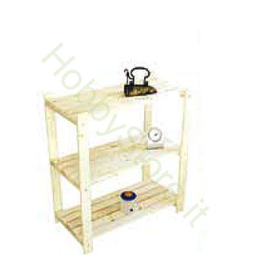 Picture of Scaffali in legno d'abete 3 ripiani