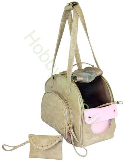 Picture of Borsa color beige per trasporto del cane