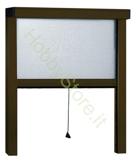 Picture of Zanzariere Alluminio Marrone Sottili  cm.100x170
