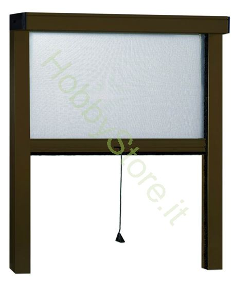 Picture of Zanzariere Alluminio color marrone  cm.100x250