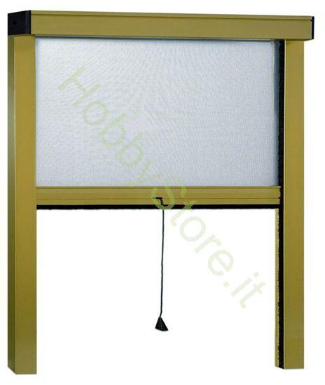 Picture of Zanzariere Alluminio Bornzato Sottili  cm.160x170