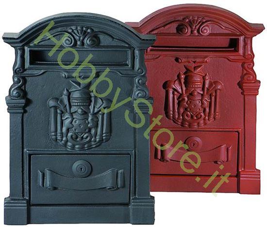 Picture of Cassetta postale rossa 28x9x41h cm