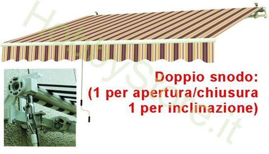 Picture of Tende Da Sole Avvolgibili A Sbraccio Bia/Rosso cm.195x150
