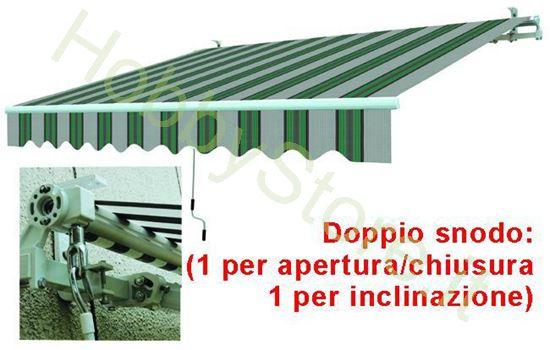 Picture of Tende Da Sole Avvolgibili A Sbraccio Bia/Verde cm.295x200