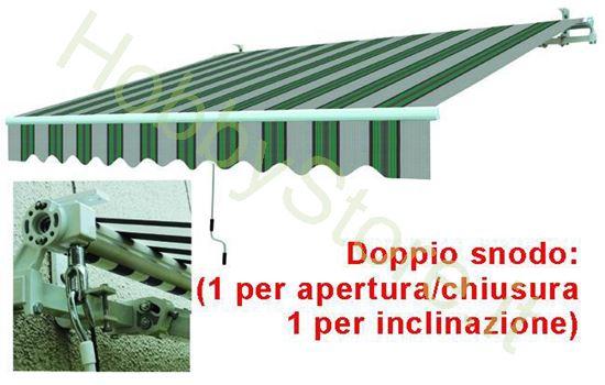 Picture of Tende Da Sole Avvolgibili A Sbraccio Bia/Verde cm.395x250