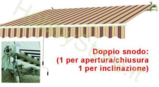 Picture of Tende Da Sole Avvolgibili A Sbraccio Bia/Rosso cm.395x250