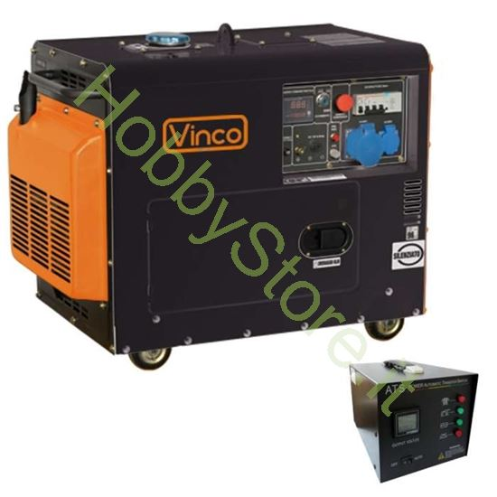 Picture of Generatore di corrente Diesel Silenziato 5,3 kW 60231ATS65299 monofase/trifase