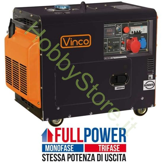 Picture of Generatore di corrente Diesel Silenziato 5,5 kW 60230 FULL POWER monofase / trifase