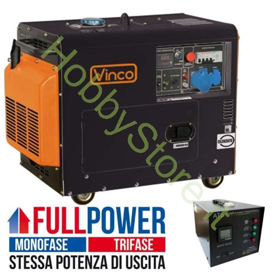Picture of Generatore Diesel Silenziato 5,5 kW 60230ATS65279 FULL POWER monofase/trifase