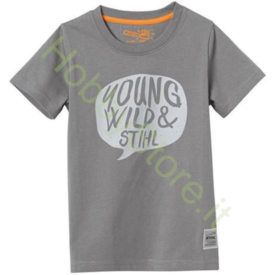 T-Shirt Bambino Stihl Young Wild Grigia