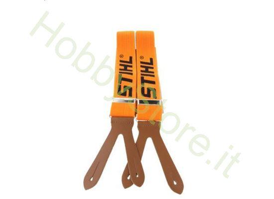Bretelle arancioni con bottoni Stihl