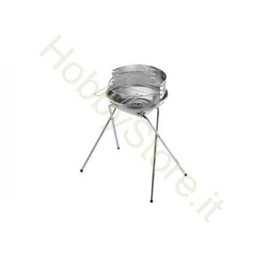 Barbecue Carbone Ompagrill tutto inox d.44x82 h art. 70480