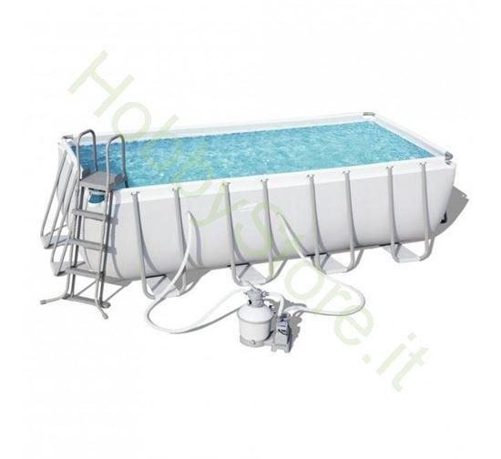 Piscina Power Steel 4.88m x 2.44m x 1.22m Rectangular Pool Set